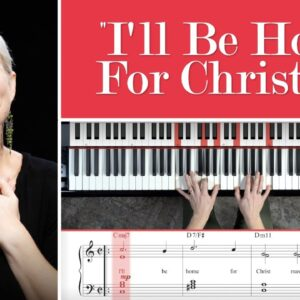 """How To Play: """"I'll Be Home For Christmas"""" Piano Lesson"""