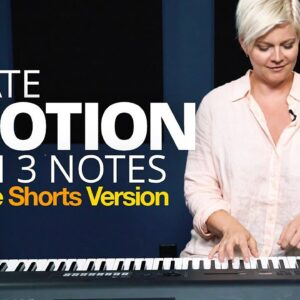 Beautiful, emotional piano with just 3 Notes #shorts