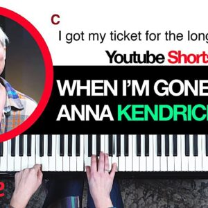 """If you've *never* played piano you can play this song- """"Cups"""" Anna Kendrick #shorts"""