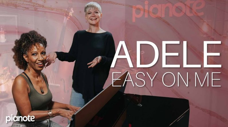 """Learn to play """"Easy On Me"""" by Adele:  Piano Lesson with Chord Chart 🎹❤️"""