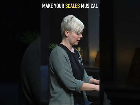 Make your scales musical (1min beginner piano lesson) #shorts
