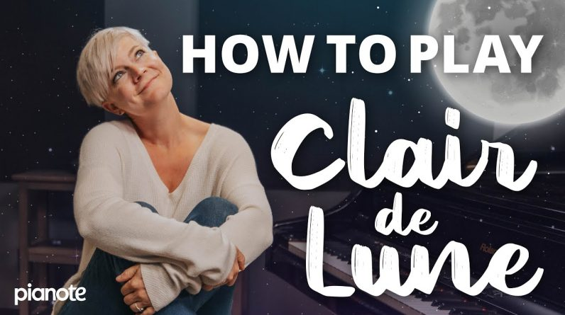 How to play: Clair de Lune 🌕🎹 (Beginner piano lesson)